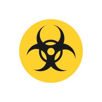 Ilustração gráfica de sinal de círculo amarelo de risco biológico