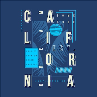 Ilustração gráfica de sonho de califórnia para impressão camiseta