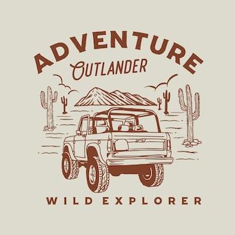 Ilustração gráfica do adventure outlander