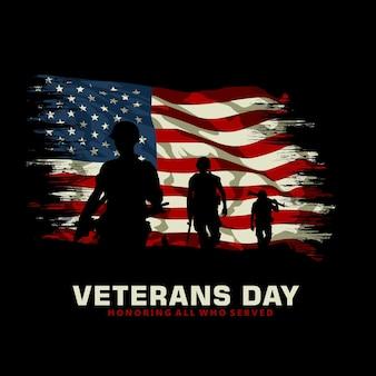 Ilustração gráfica do dia dos veteranos