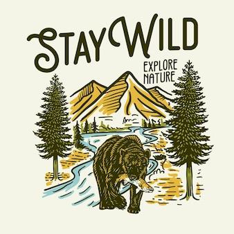 Ilustração gráfica stay wild