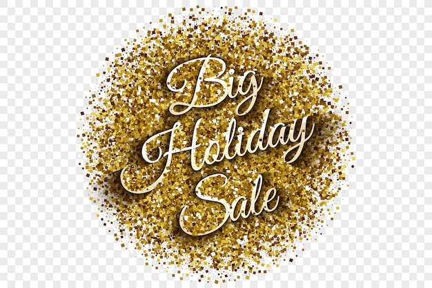 Ilustração grande do vetor do ouropel da venda grande do feriado