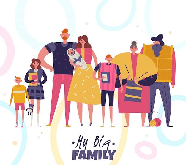 Ilustração grande família