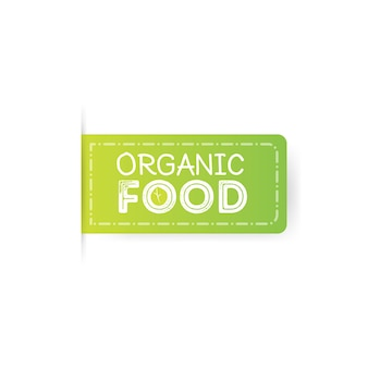 Ilustração green labels do carimbo de borracha de alimentos orgânicos