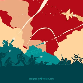 Ilustração guerra