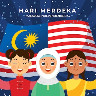 Ilustração hari merdeka
