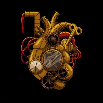 Ilustração heart steampunk