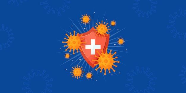 Ilustração horizontal do sistema imunológico