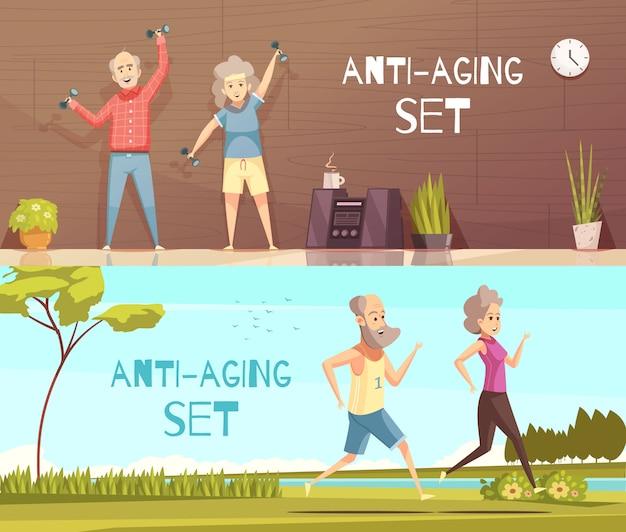 Ilustração horizontal longevidade