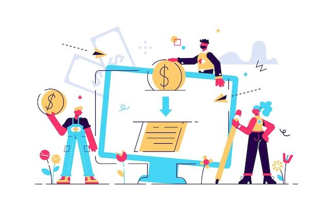Ilustração ilustração de aprovação de crédito ou contrato