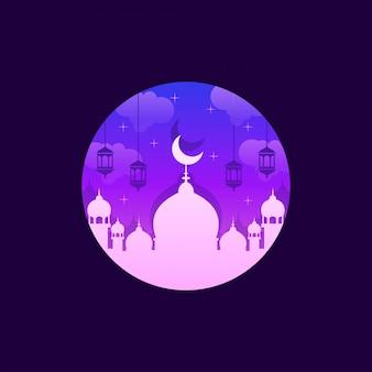 Ilustração impressionante da mesquita
