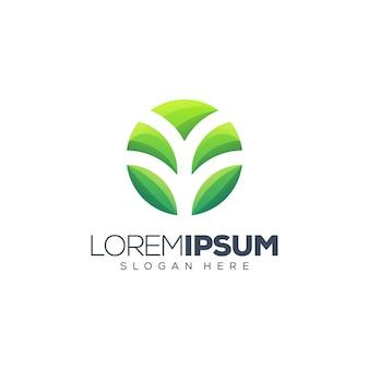 Ilustração impressionante do logotipo da planta