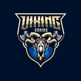 Ilustração impressionante do logotipo dos esports de viquingue