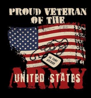 Ilustração incrível do exército veterano americano