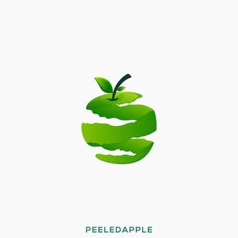 Ilustração incrível do logotipo premium da apple descascada