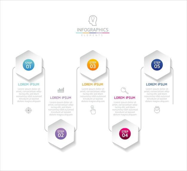 Ilustração infográficos modelo de design gráfico de apresentação de informações de negócios