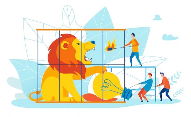 Ilustração inspirador sobre o plano dos desenhos animados das ideias da economia.
