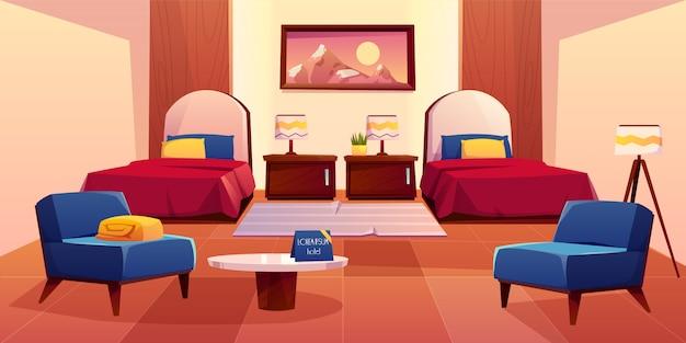 Ilustração interior do apartamento vazio