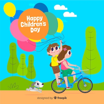 Ilustração internacional para o evento do dia das crianças