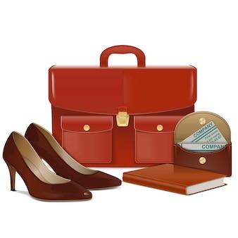 Ilustração isolada de acessórios para mulher de negócios