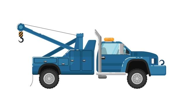 Ilustração isolada de caminhão de reboque