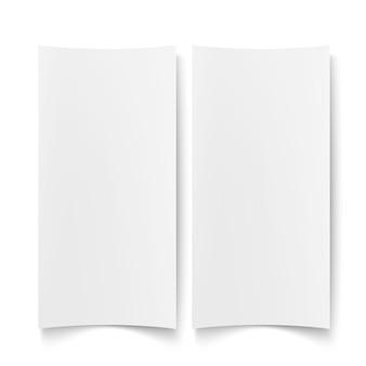 Ilustração isolada de papel branco em branco