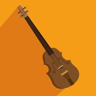 Ilustração isolada instrumento chello