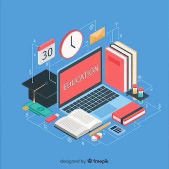 Ilustração isométrica de educação