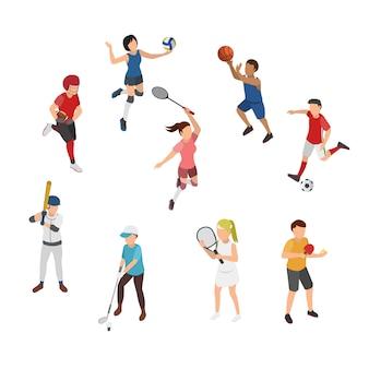 Ilustração isométrica de esporte