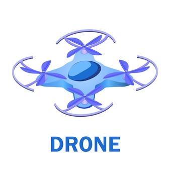 Ilustração isométrica de veículo aéreo não tripulado