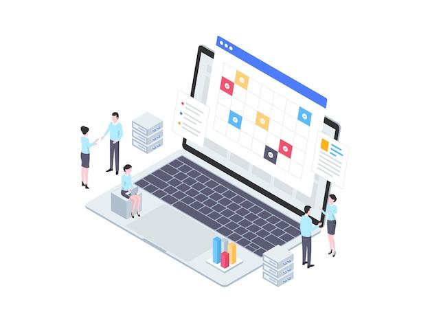 Ilustração isométrica do acordo comercial. adequado para aplicativo móvel, site, banner, diagramas, infográficos e outros ativos gráficos.