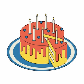 Ilustração isométrica sweet cake