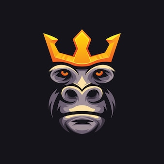 Ilustração king kong e sport logo