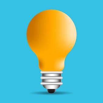 Ilustração lâmpada com raios brilham símbolo de energia e ideia
