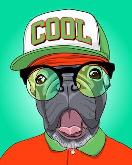 Ilustração legal do cão