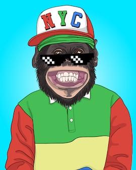 Ilustração legal do macaco