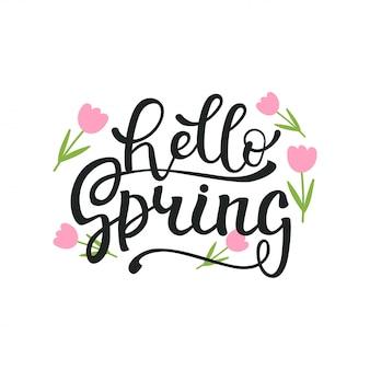 Ilustração, lettering primavera
