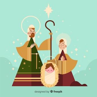 Ilustração linda natividade
