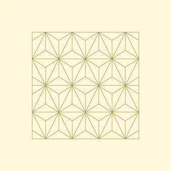 Ilustração linear de um bloco quadrado