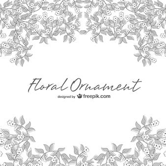 Ilustração linha floral arte vetorial