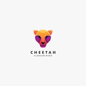 Ilustração logotipo cabeça cheetah
