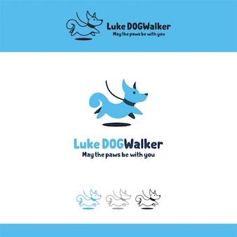 Ilustração logotipo com cone cão animal animais