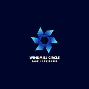 Ilustração logotipo moinho vento