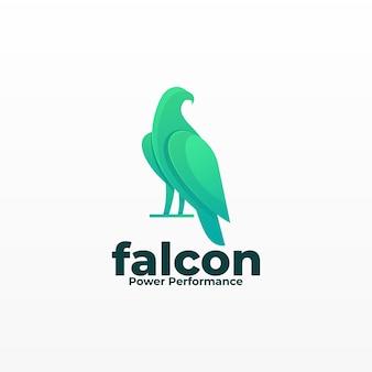 Ilustração logotipo pose falcão