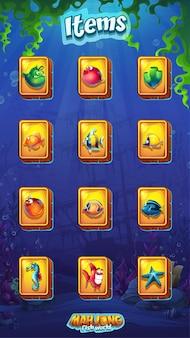 Ilustração mahjong fish world