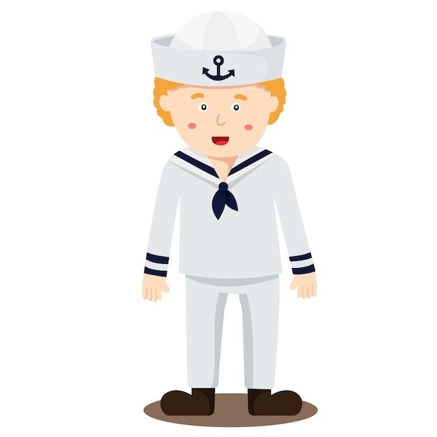 Ilustração, marinheiro, menino