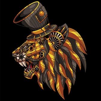 Ilustração mecânica do leão