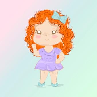 Ilustração menina