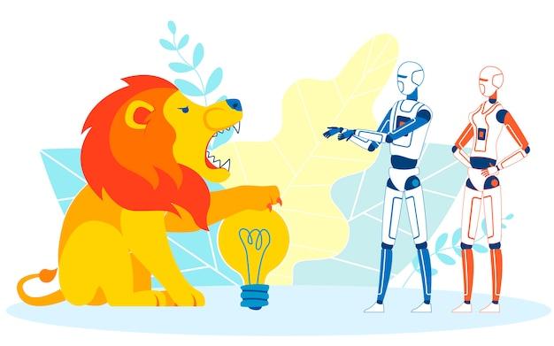 Ilustração metafórica do desenho animado de firewall