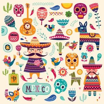 Ilustração mexicana de férias